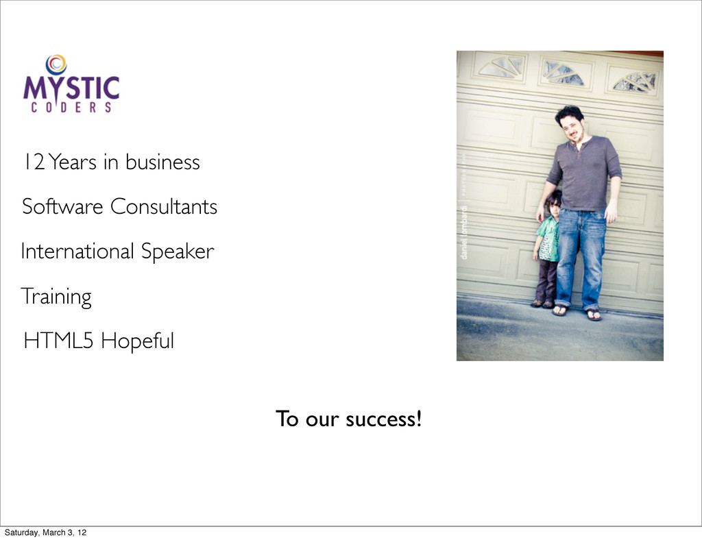To our success! Software Consultants Internatio...