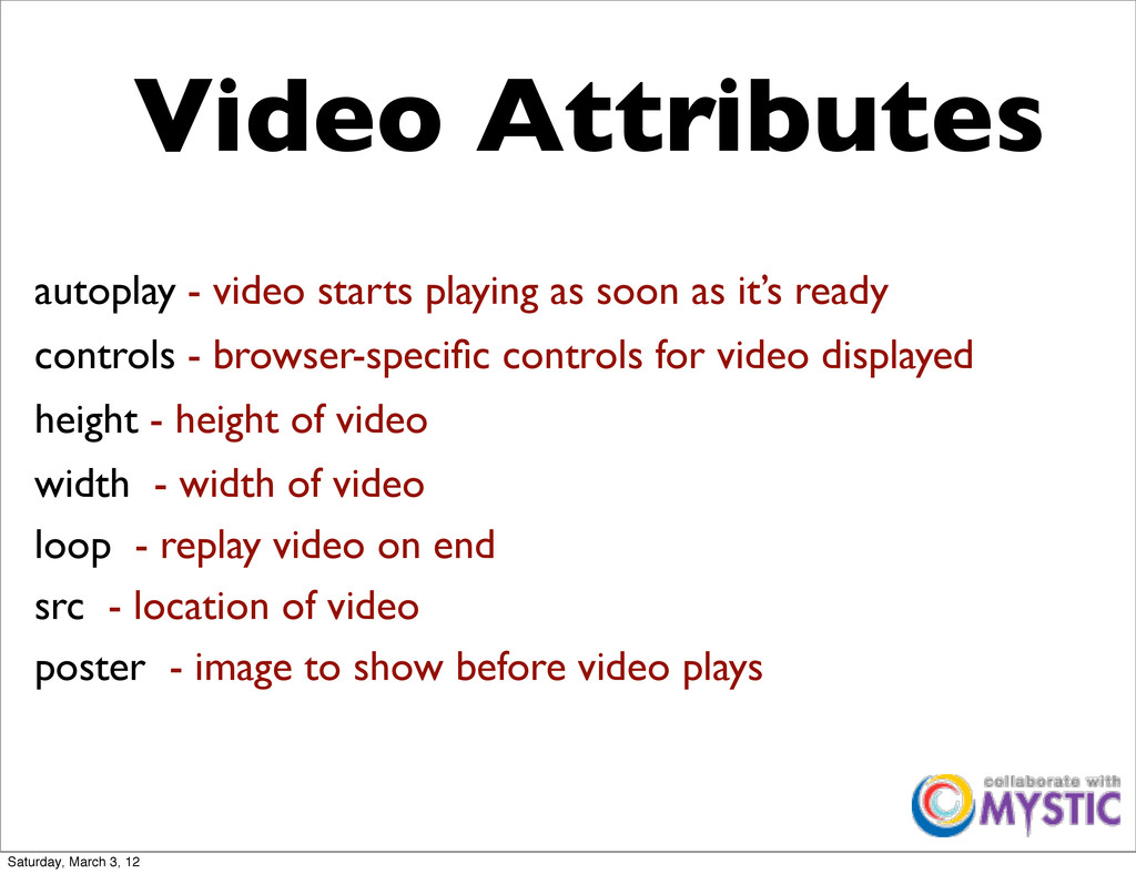 autoplay - video starts playing as soon as it's...