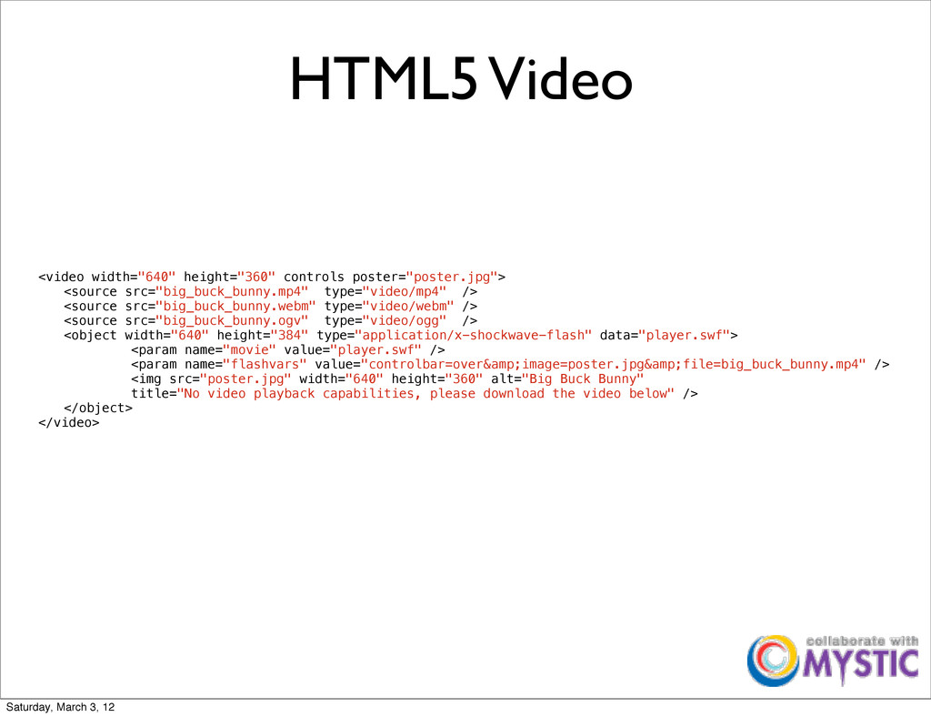 """HTML5 Video <video width=""""640"""" height=""""360"""" con..."""