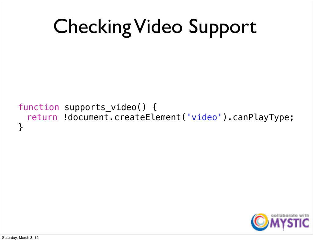 Checking Video Support function supports_video(...