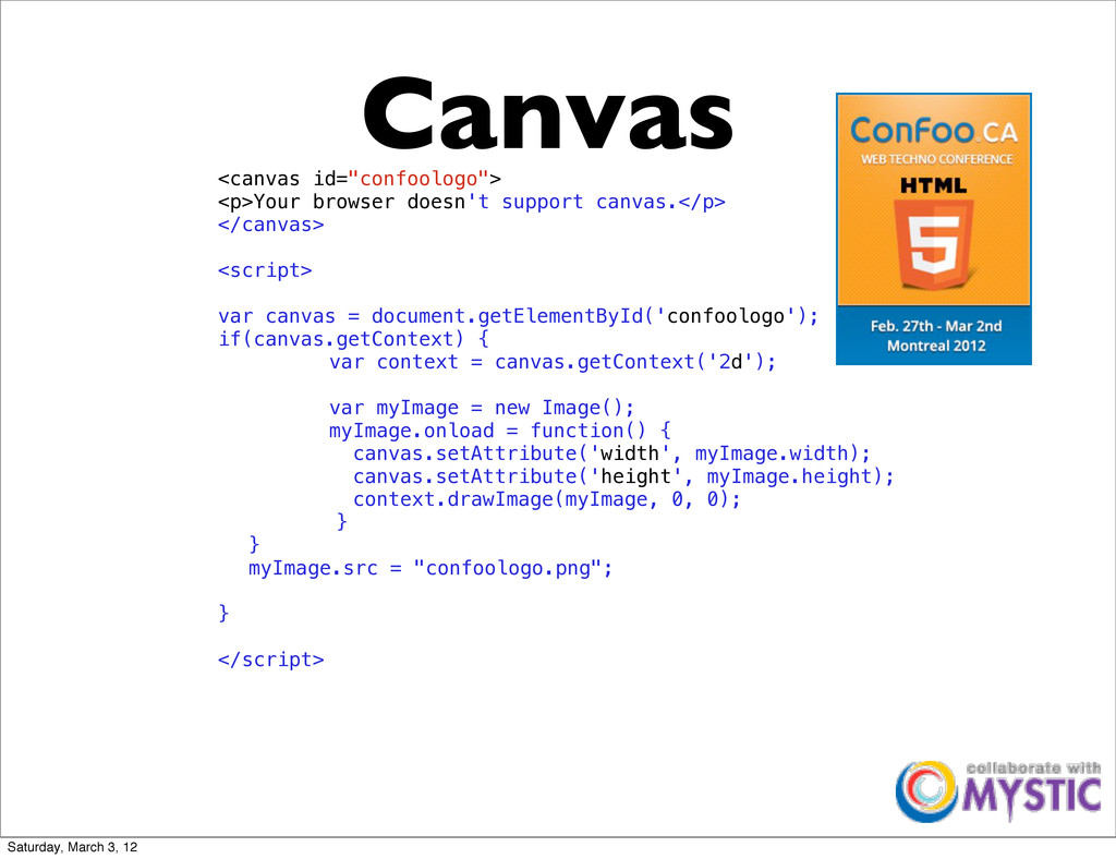 """Canvas <canvas id=""""confoologo""""> <p>Your browser..."""