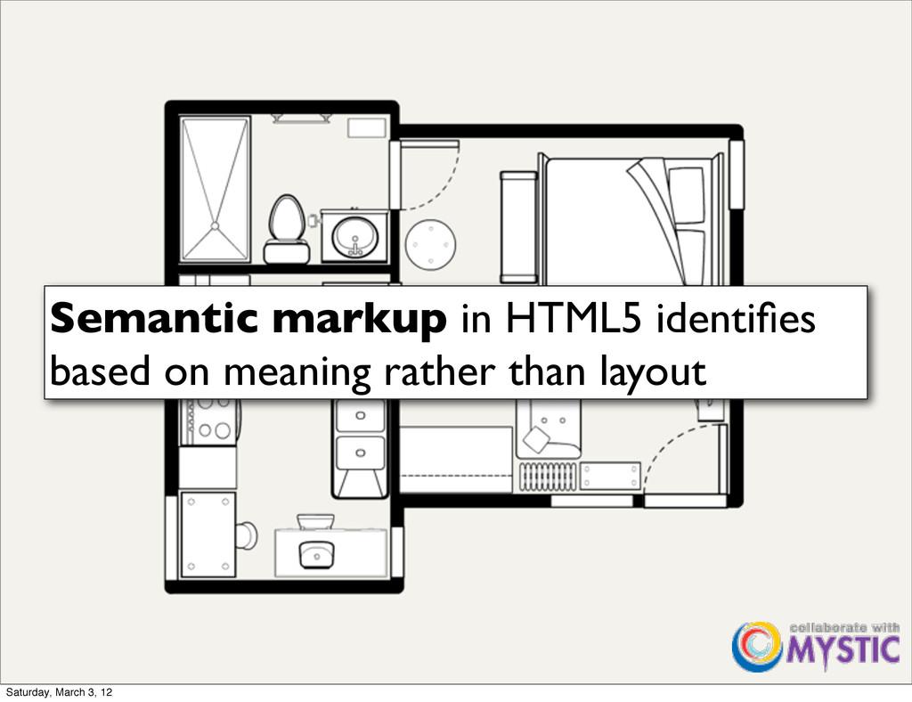 Semantic markup in HTML5 identifies based on mea...