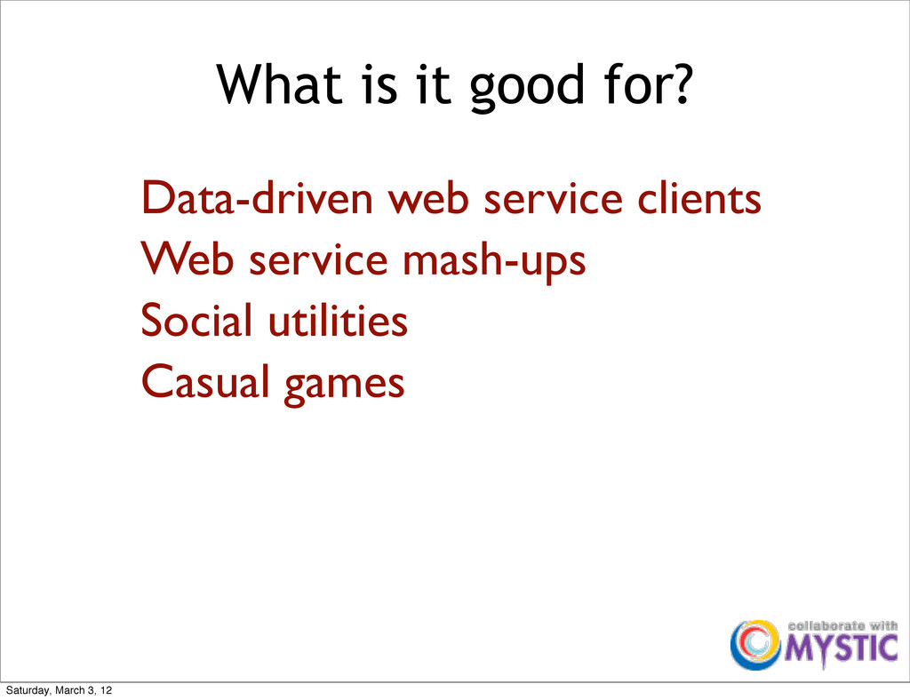 What is it good for? Data-driven web service cl...