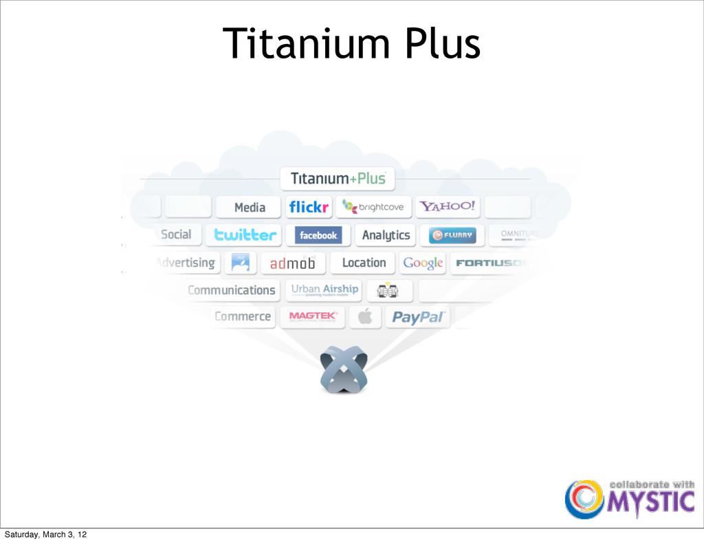 Titanium Plus Saturday, March 3, 12