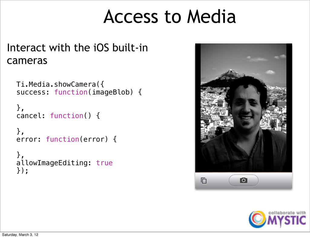 Access to Media Interact with the iOS built-in ...