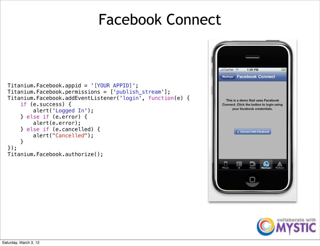 Facebook Connect Titanium.Facebook.appid = '[YO...