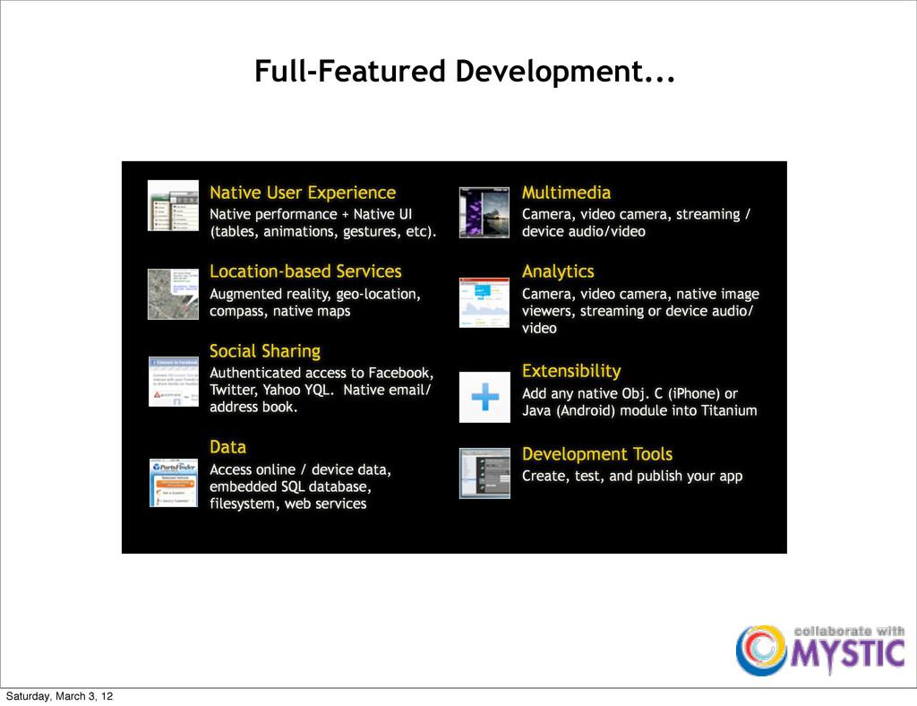 Native User Experience Native performance + Nat...