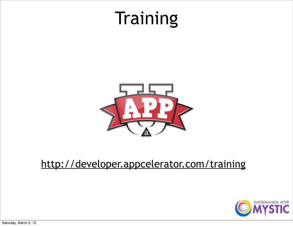 Training http://developer.appcelerator.com/trai...
