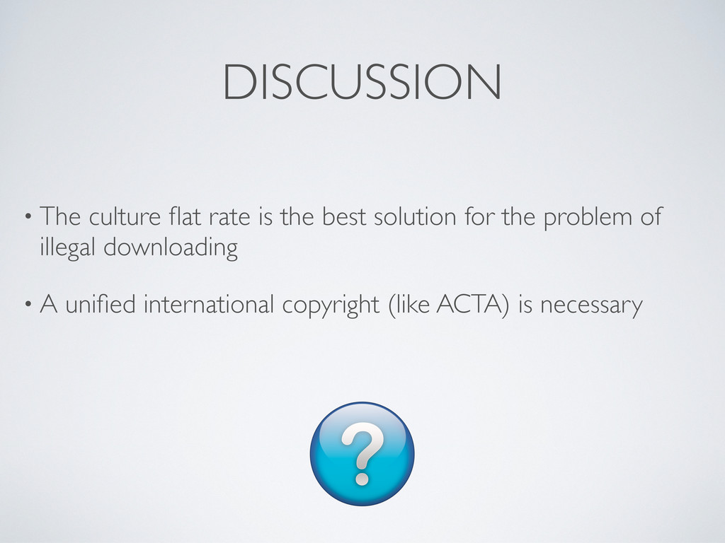 DISCUSSION • The culture flat rate is the best s...
