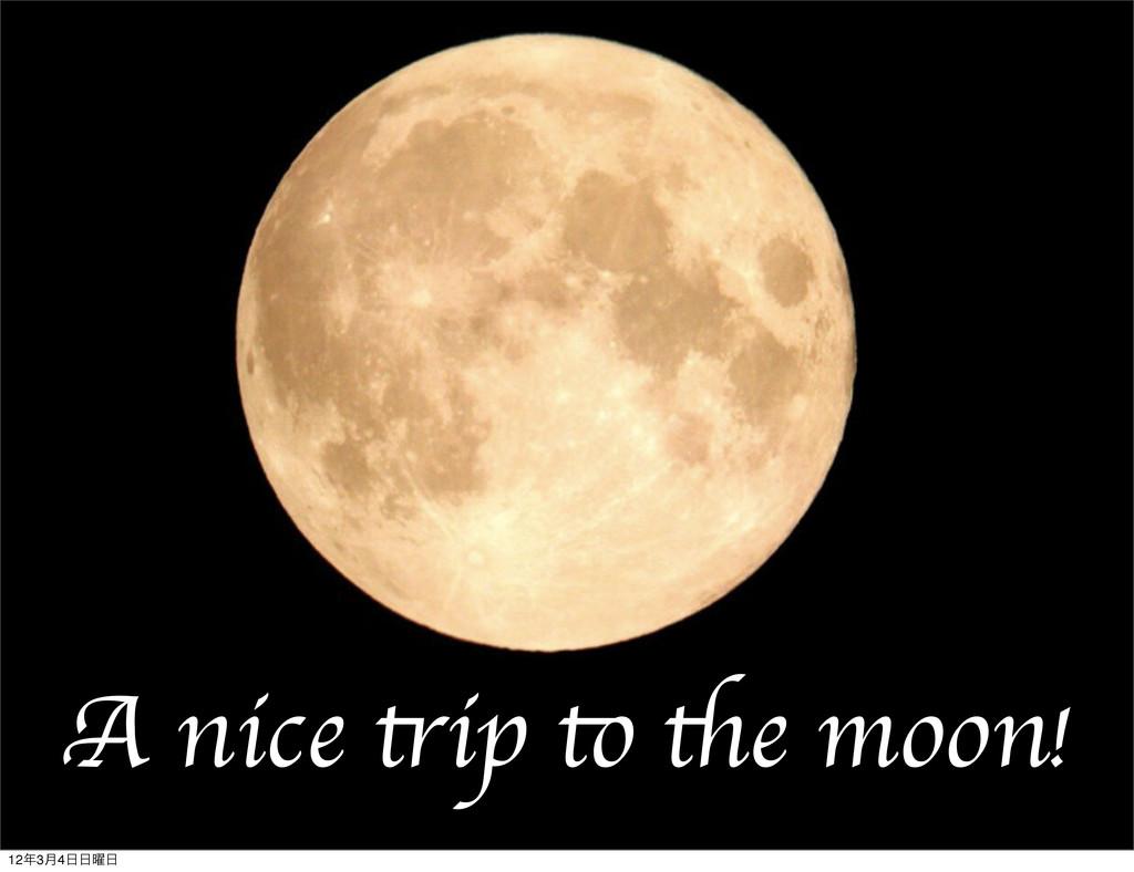 A nice trip to the moon! 123݄4༵