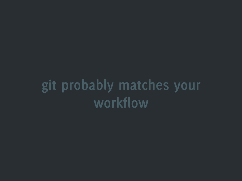 git probably matches your workflow