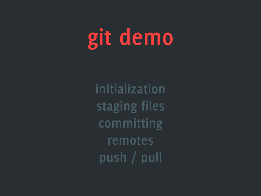 git demo initialization staging files committin...