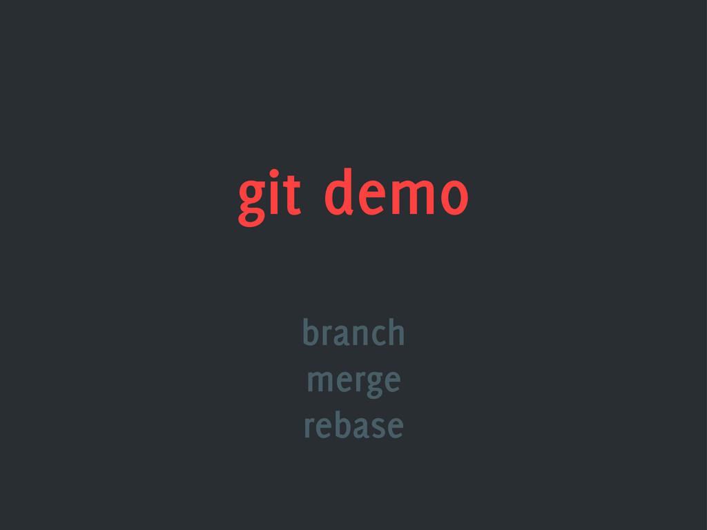 git demo branch merge rebase