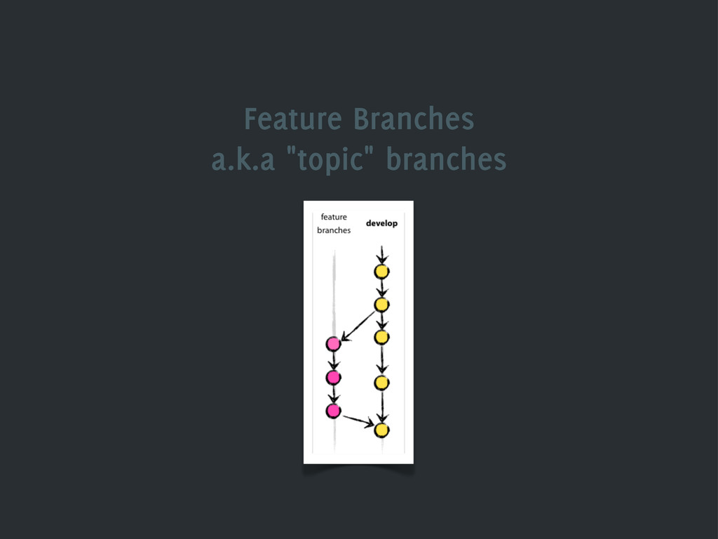 """Feature Branches a.k.a """"topic"""" branches"""