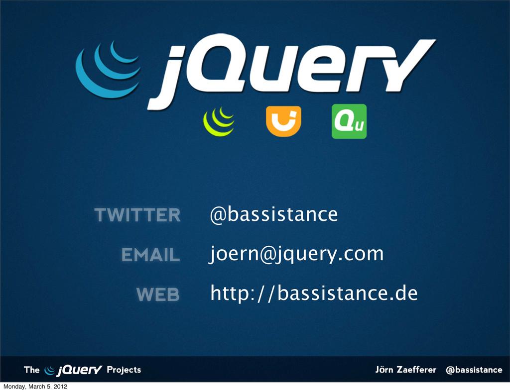 Jörn Zaefferer @bassistance The Projects @bassi...