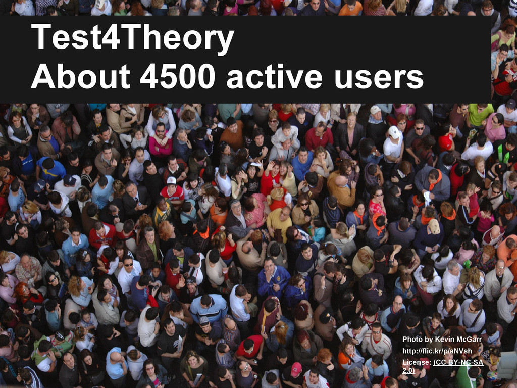 Test4Theory About 4500 active users Photo by Ke...