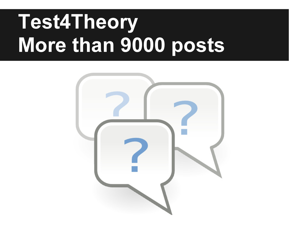 Test4Theory More than 9000 posts
