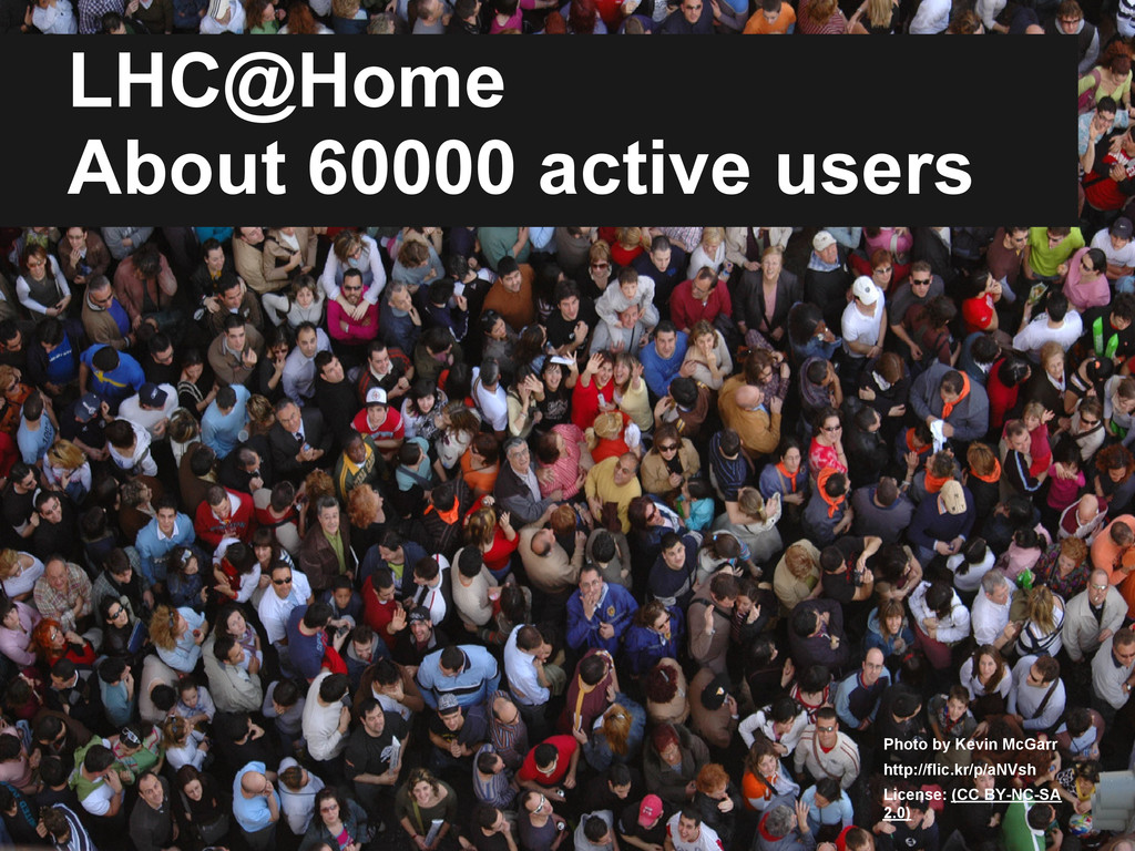 LHC@Home About 60000 active users Photo by Kevi...