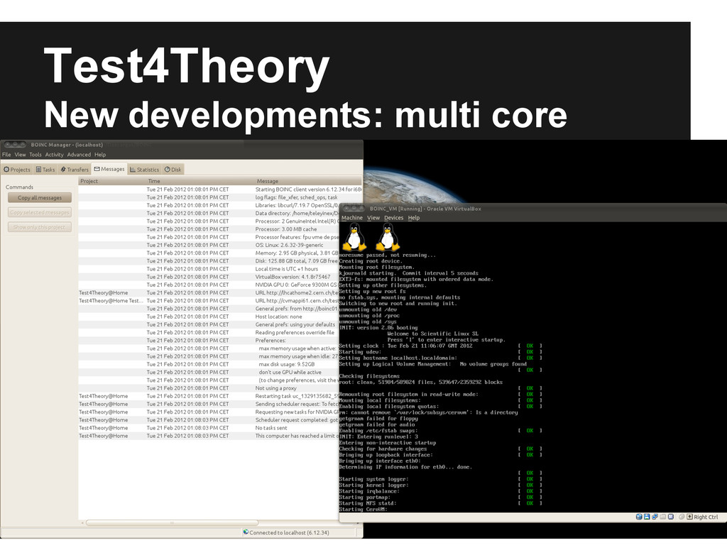 Test4Theory New developments: multi core Multi-...