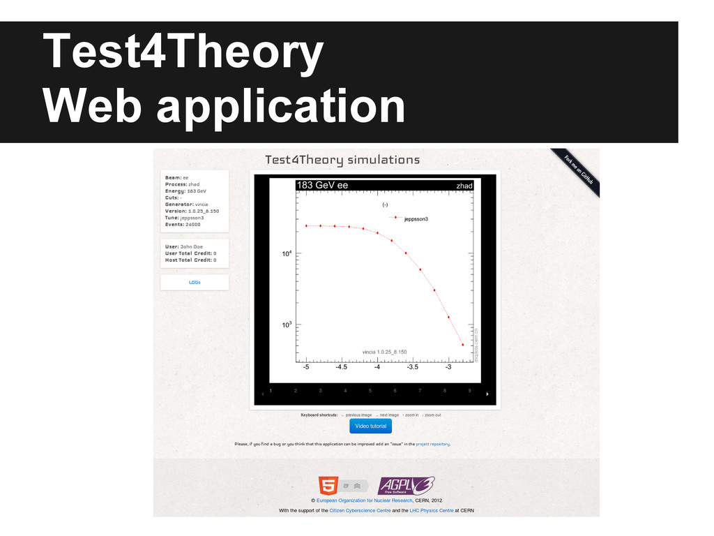 Test4Theory Web application