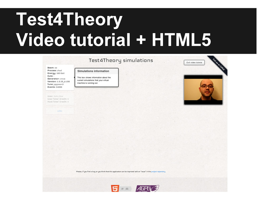 Test4Theory Video tutorial + HTML5