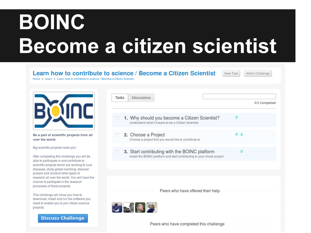 BOINC Become a citizen scientist