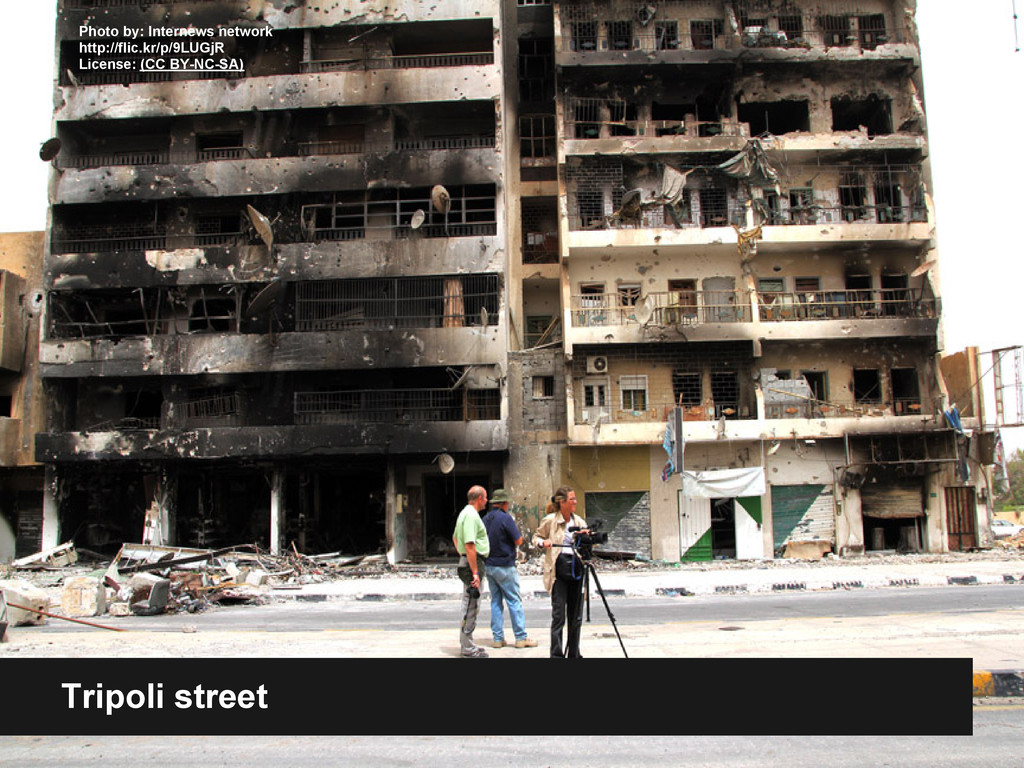 Tripoli street Photo by: Internews network http...