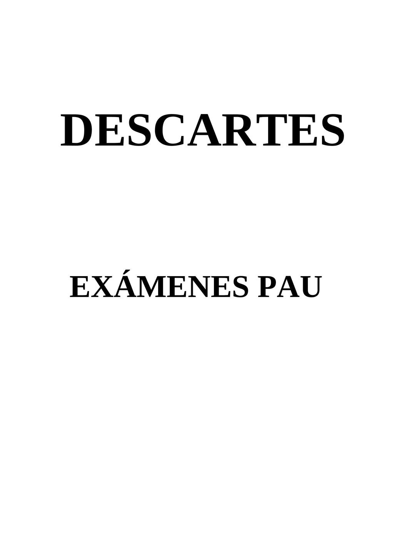 DESCARTES EXÁMENES PAU