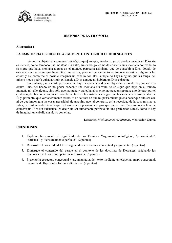 PRUEBAS DE ACCESO A LA UNIVERSIDAD Curso 2009-2...