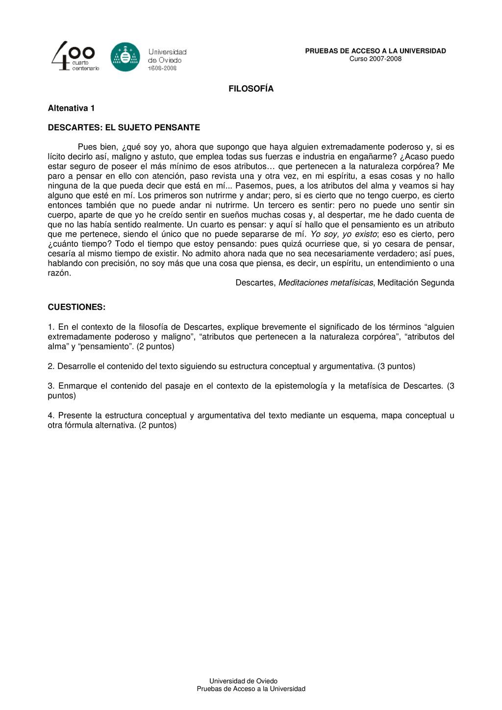 PRUEBAS DE ACCESO A LA UNIVERSIDAD Curso 2007-2...