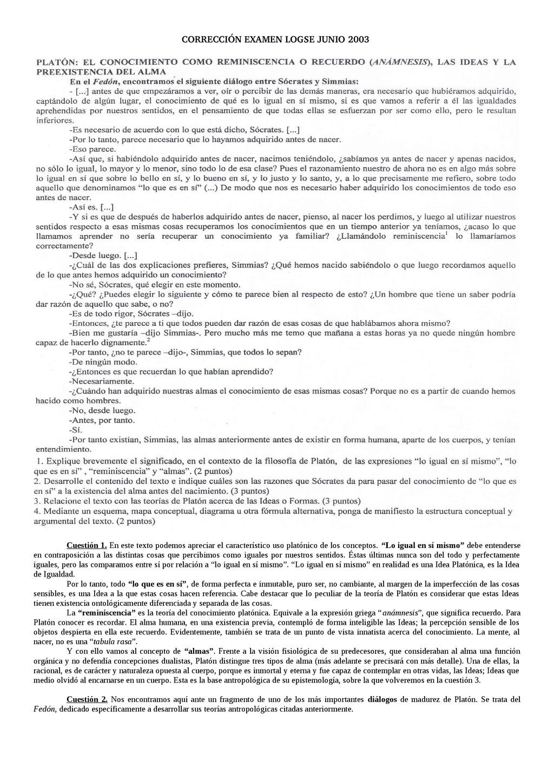 CORRECCIÓN EXAMEN LOGSE JUNIO 2003 Cuestión 1. ...