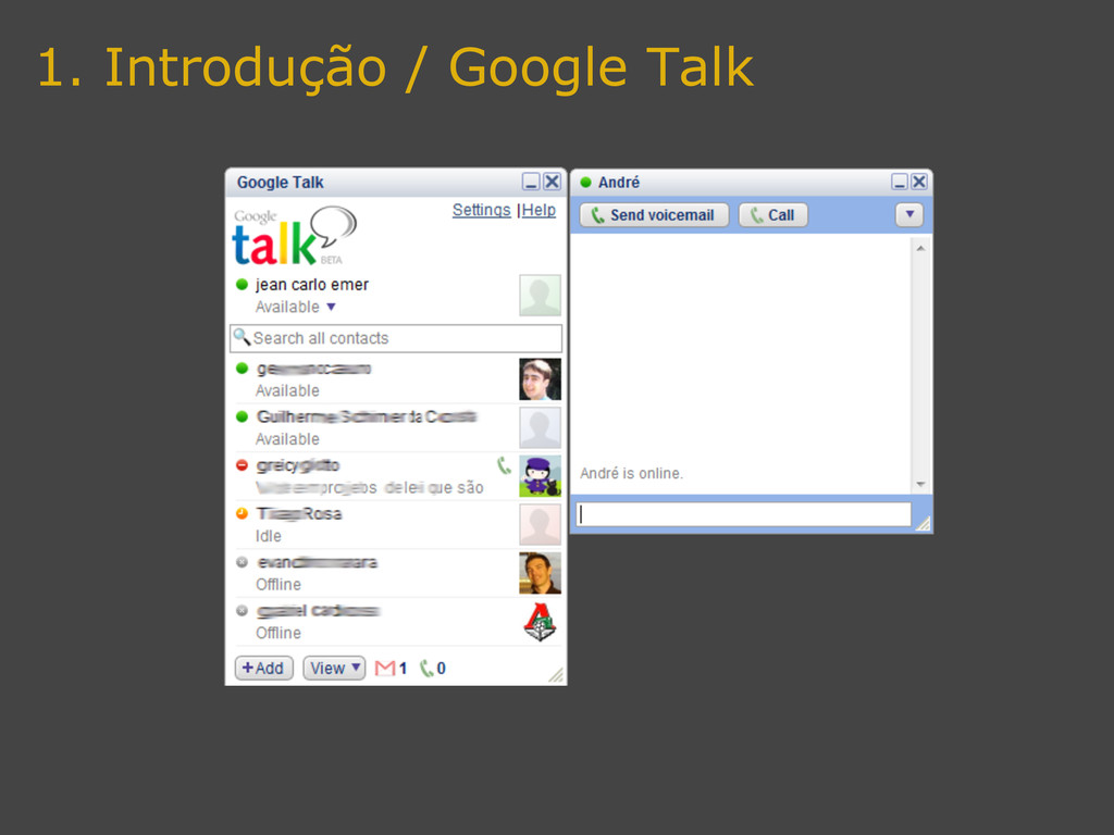 1. Introdução / Google Talk