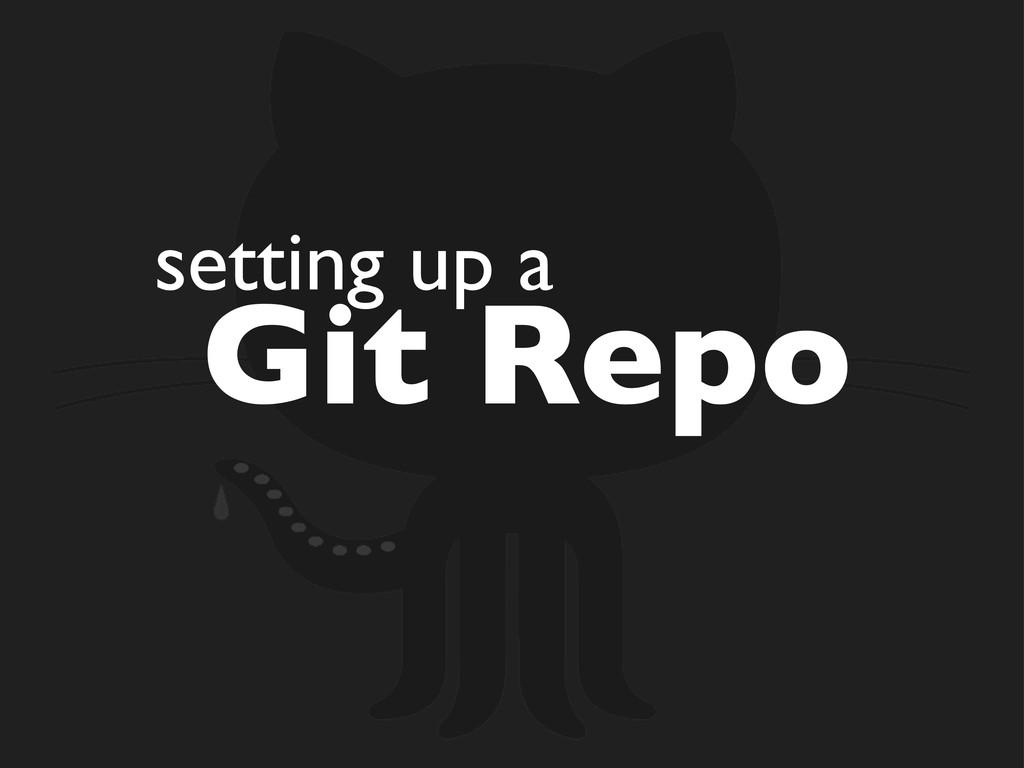 setting up a Git Repo