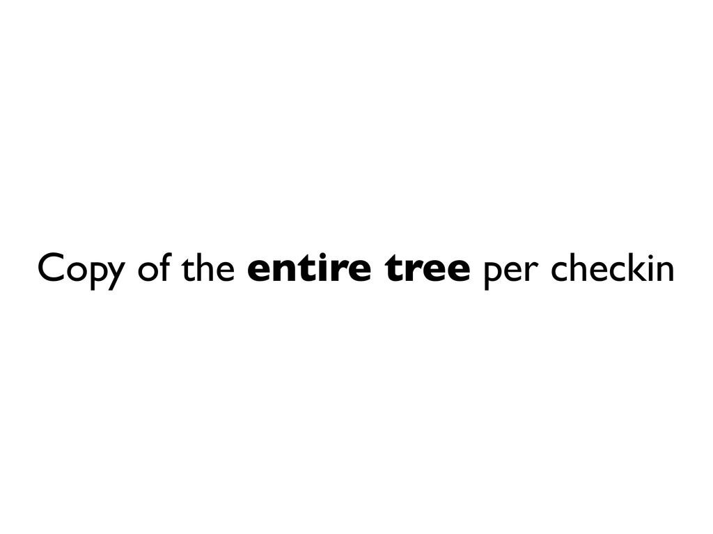 Copy of the entire tree per checkin