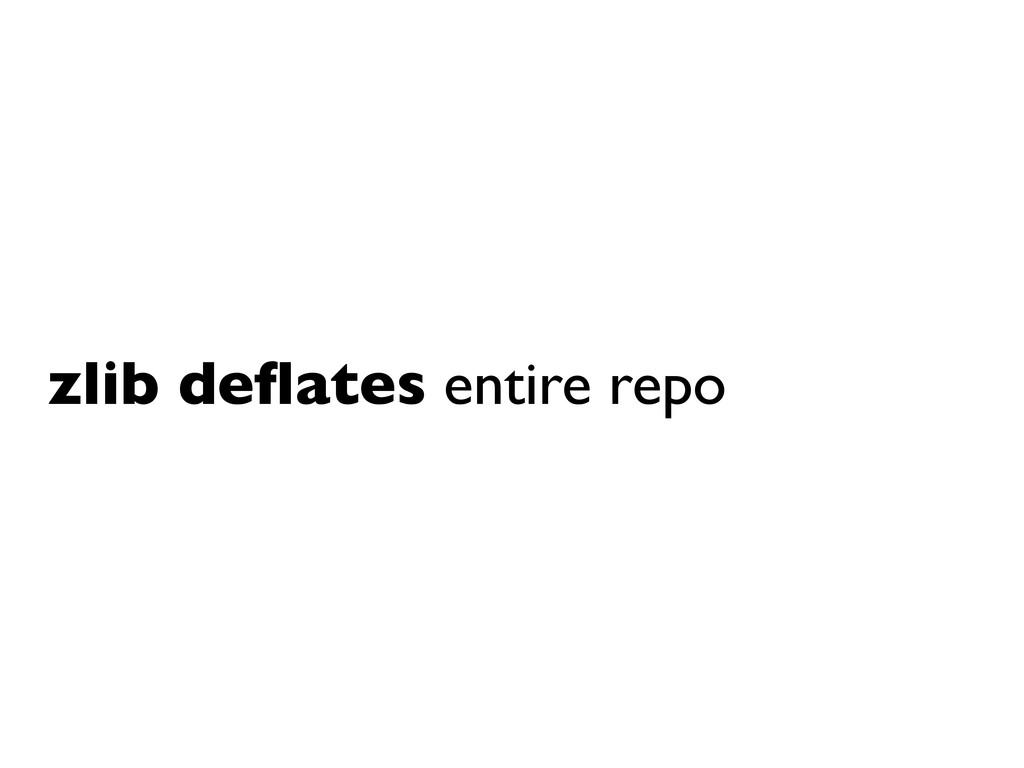 zlib deflates entire repo