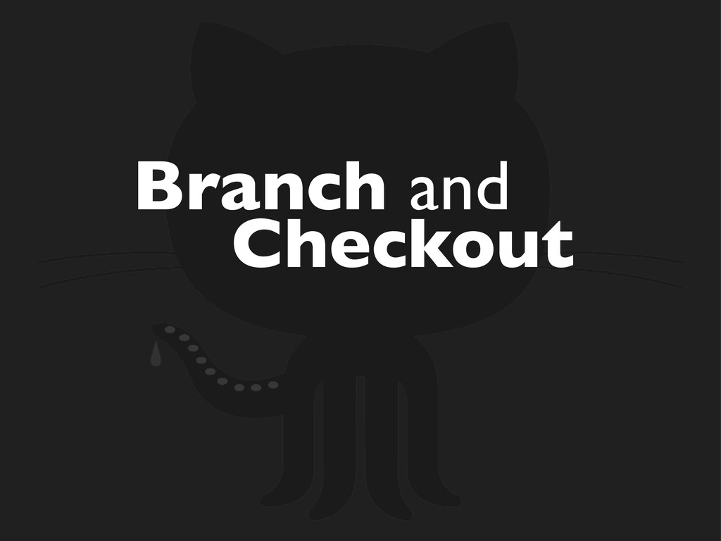 Branch and Checkout
