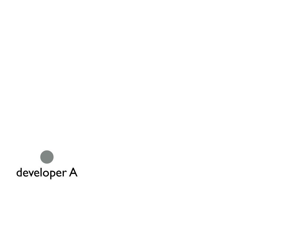 developer A