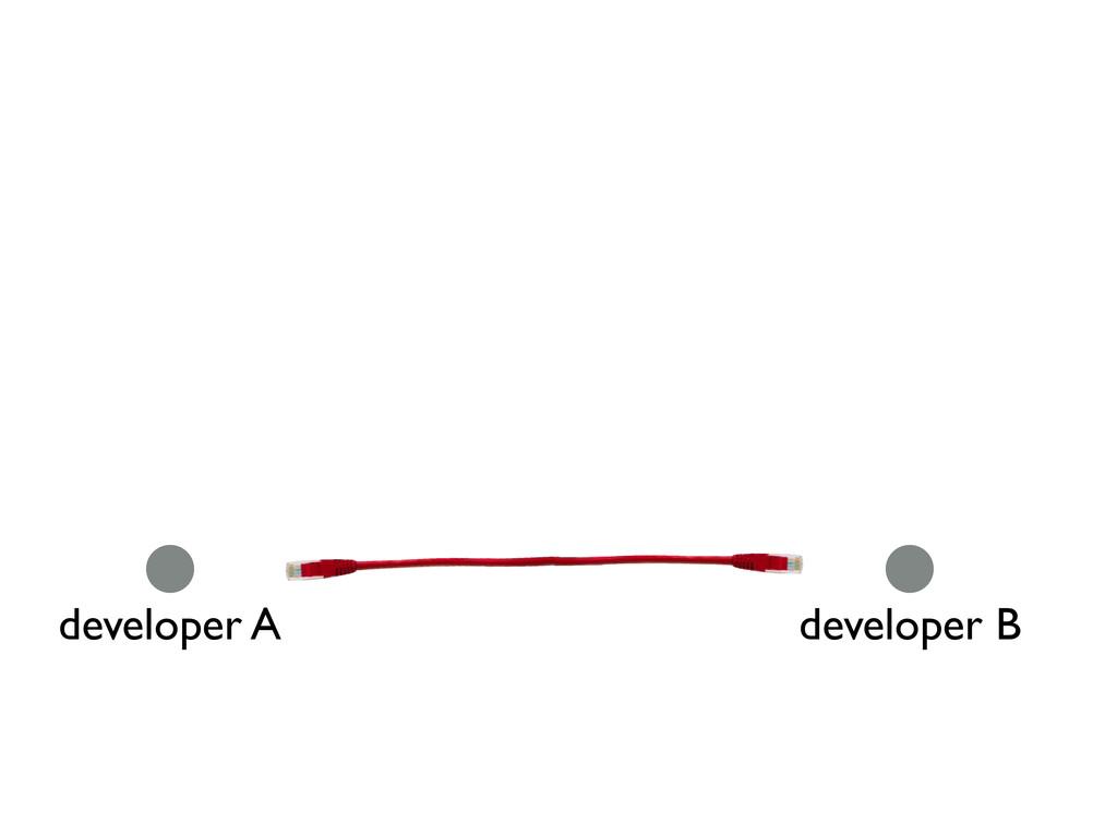 developer A developer B
