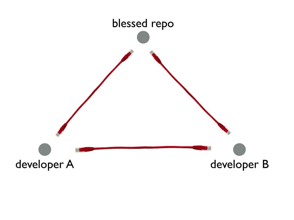 blessed repo developer A developer B