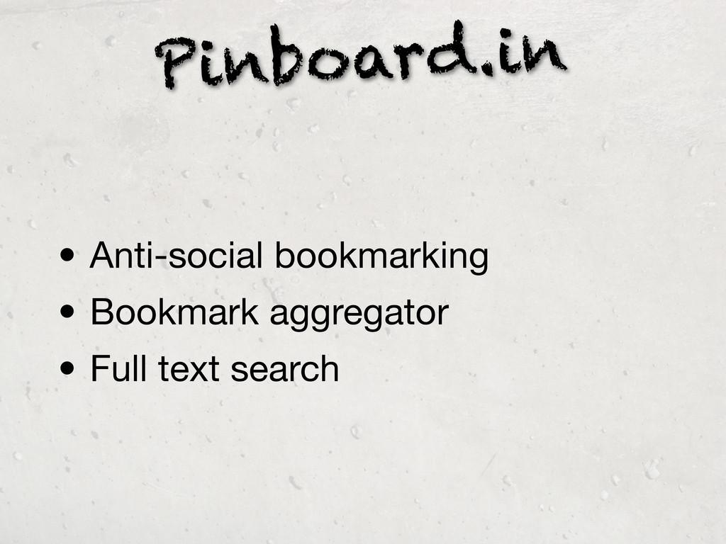 Pinboard.in • Anti-social bookmarking • Bookmar...
