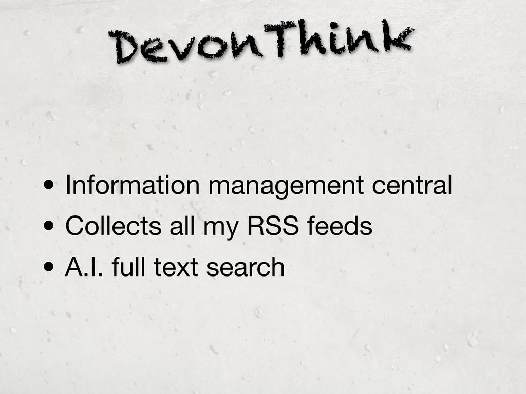 DevonThink • Information management central • C...