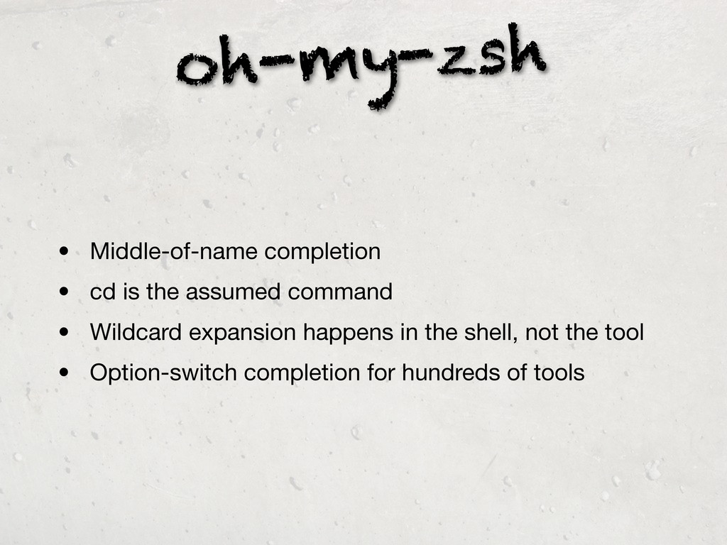 oh-my-zsh • Middle-of-name completion • cd is t...