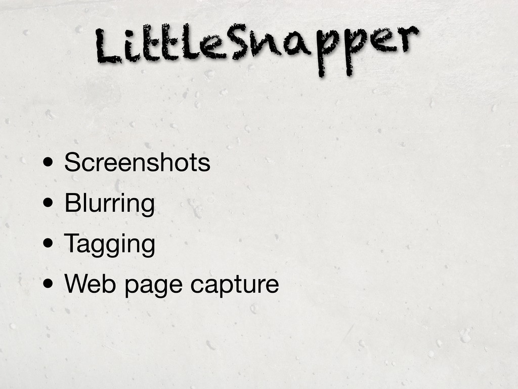 LittleSnapper • Screenshots • Blurring • Taggin...