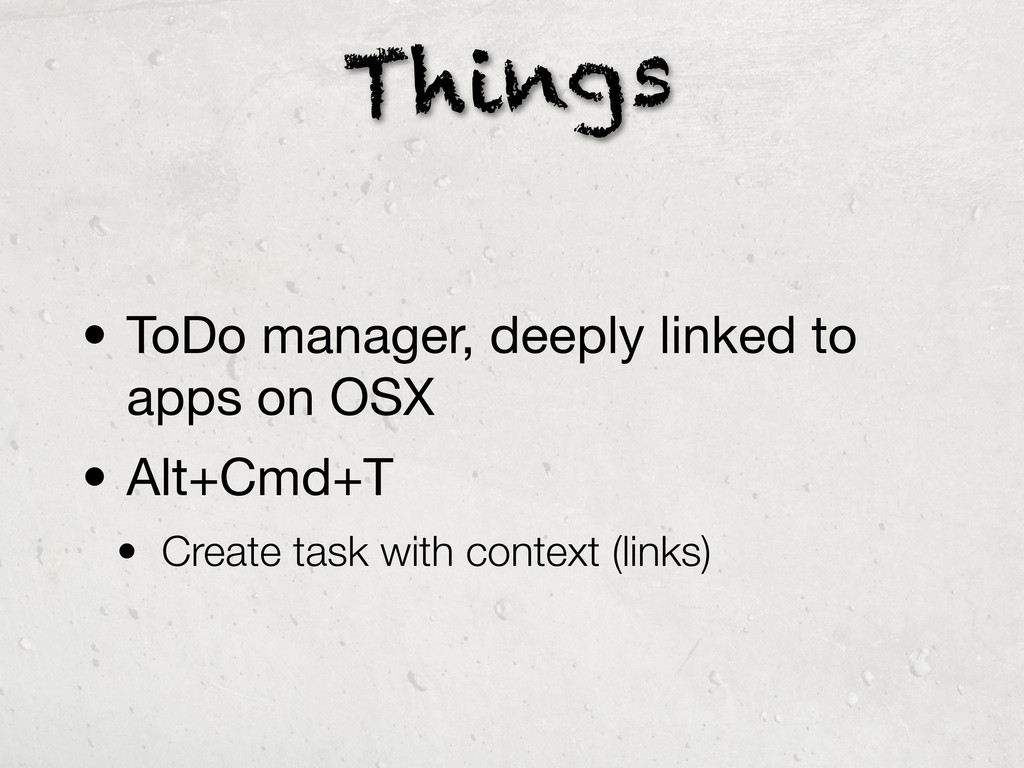 Things • ToDo manager, deeply linked to apps on...
