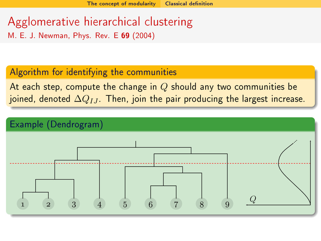 The concept of modularity Classical denition A...