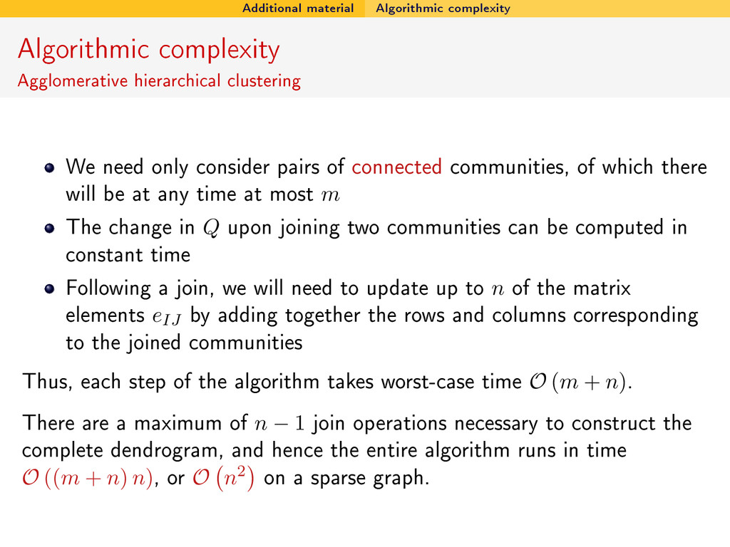 Additional material Algorithmic complexity Algo...