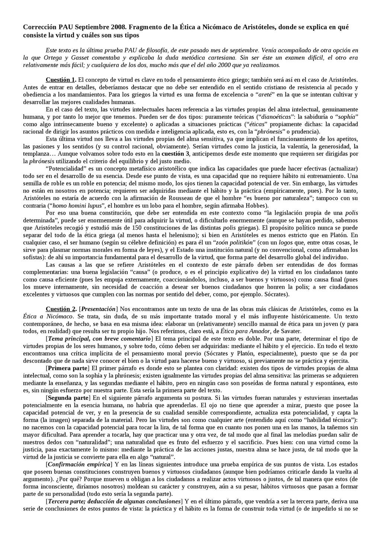 Corrección PAU Septiembre 2008. Fragmento de la...