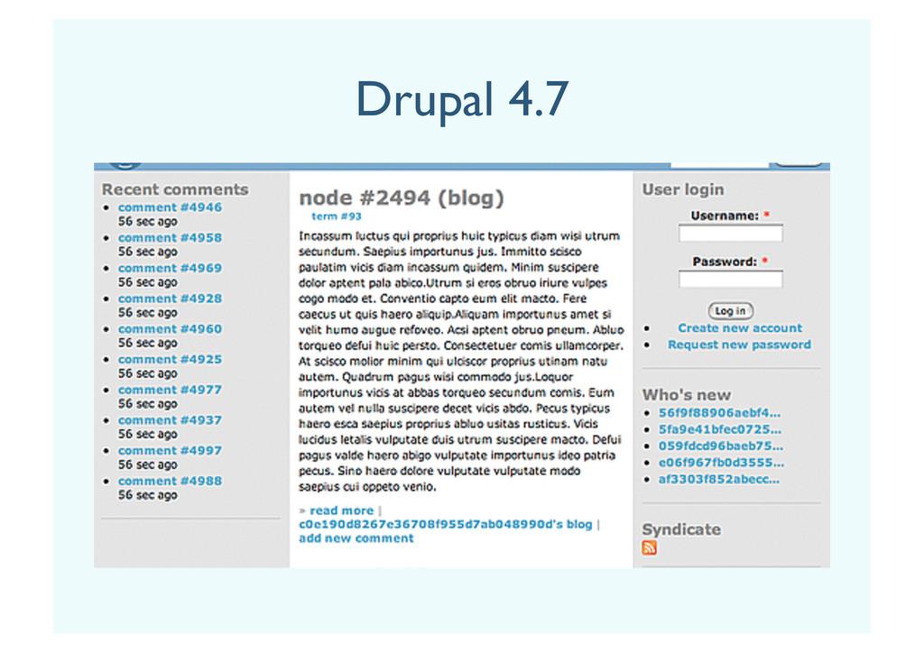 Drupal 4.7