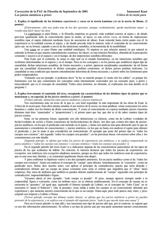 Corrección de la PAU de Filosofía de Septiembre...