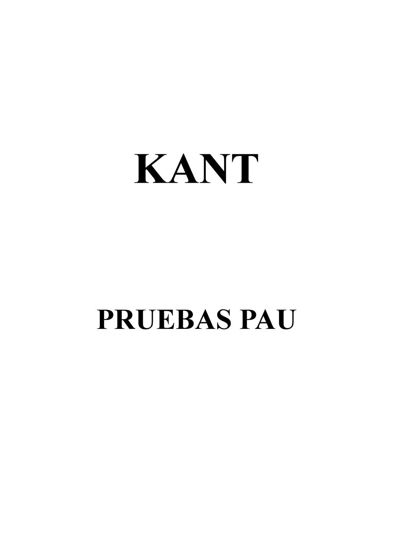 KANT PRUEBAS PAU